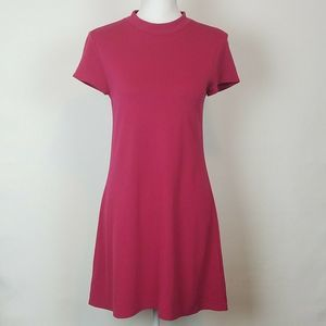 Leith Small Shift Dress Pink Mock Neck